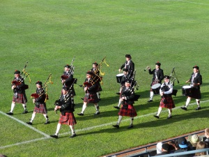 Full pipe band pre-match