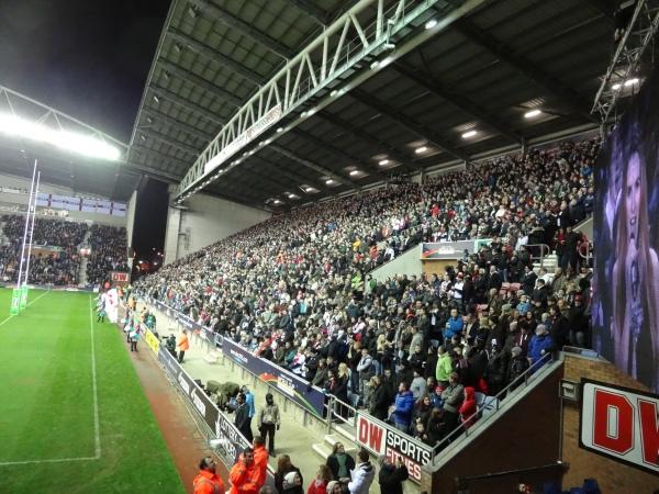 DW Stadium, Wigan.