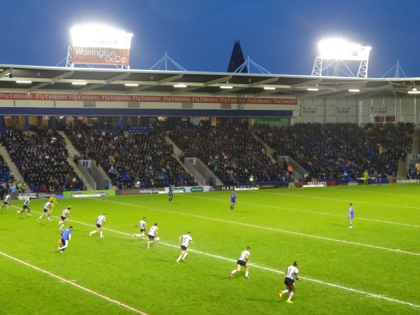 The fantastic Halliwell Jones Stadium.